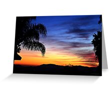 Colorful Sunset for Moms Birthday ~ digital paint effect  Greeting Card