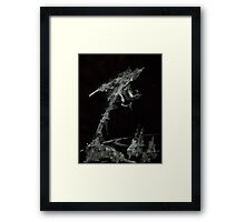 0001 - Brush and Ink - The World Framed Print