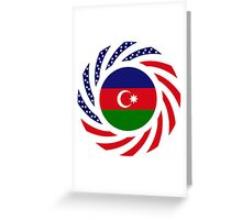 Azerbaijani American Multinational Patriot Flag Series Greeting Card