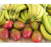 Farmers market fruits Photographic Print