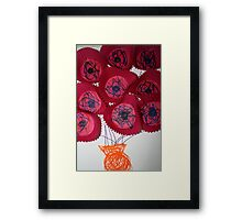 'Flowers' by Lachlan (age almost three) Framed Print