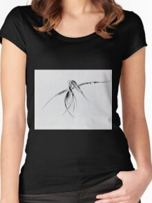 0002 - Brush and Ink - Crow Women's Fitted Scoop T-Shirt
