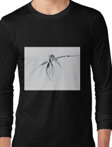0002 - Brush and Ink - Crow Long Sleeve T-Shirt