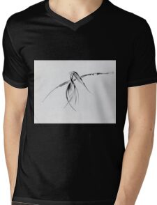 0002 - Brush and Ink - Crow Mens V-Neck T-Shirt