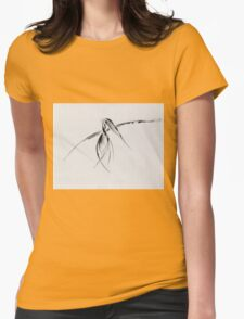 0002 - Brush and Ink - Crow Womens Fitted T-Shirt