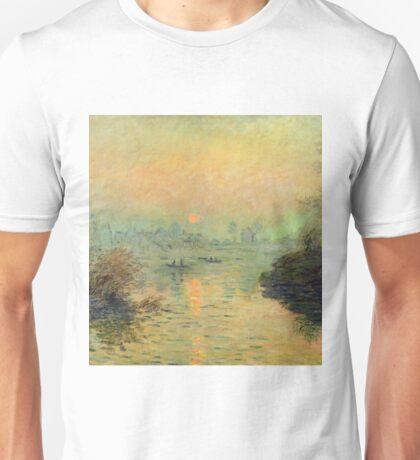 Claude Monet - Sun Setting Over The Seine At Lavacourt. Winter Effect 1880 Unisex T-Shirt