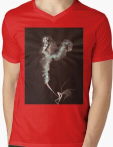 0003 - Brush and Ink - Cut Mens V-Neck T-Shirt