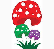 Magic Fairy Toadstools with A Plain Background T-Shirt