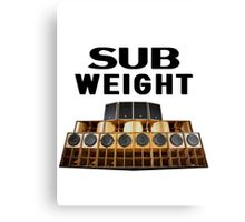 Sub Weight Canvas Print