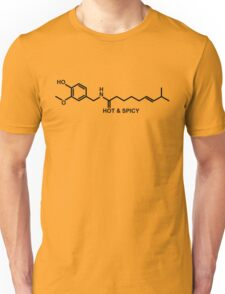 Hot and Spicy: Capsaicin Molecule Unisex T-Shirt