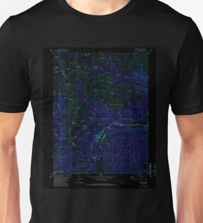 USGS TOPO Map Colorado CO Garfield 233050 1982 24000 Inverted Unisex T-Shirt