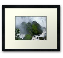 Under The Falls Framed Print