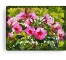 Bunch of blooming flowers Canvas Print
