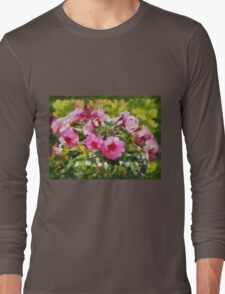 Bunch of blooming flowers Long Sleeve T-Shirt