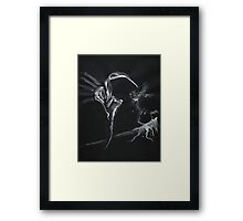 0006 - Brush and Ink - Hill Framed Print