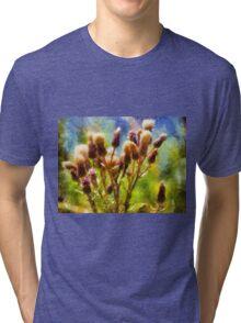 Bunch of flowers under a shining sun Tri-blend T-Shirt