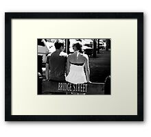 """We've come to the bridge we were going to cross when we came to it"" Framed Print"