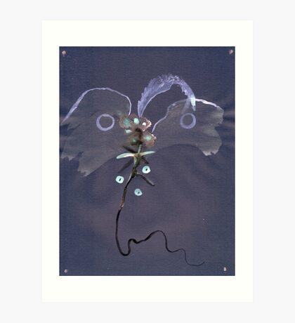0007 - Brush and Ink - Kite Art Print