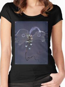 0007 - Brush and Ink - Kite Women's Fitted Scoop T-Shirt