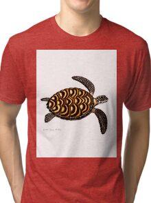 Hawksbill Sea Turtle Tri-blend T-Shirt