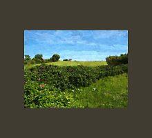 Beautiful green field and blue sky Unisex T-Shirt