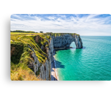 Etretat cliffs Canvas Print