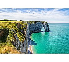 Etretat cliffs Photographic Print