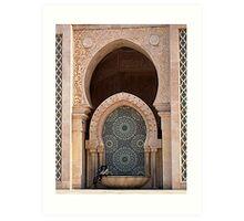 Secrets-Hassan II Mosque Art Print