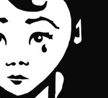 Lady Sorrow : T-shirt illustration / design - inspired by stencil / street art. Sticker