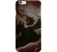 0010 - Brush and Ink - Left Bordered iPhone Case/Skin