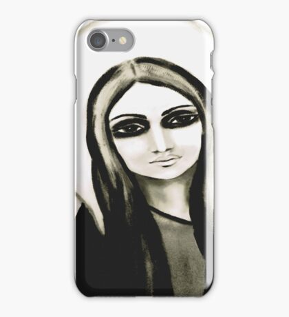white mary iPhone Case/Skin