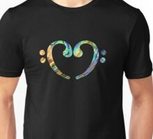 Music Notes ABL Heart Unisex T-Shirt
