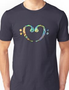 Music Notes ABL Heart Unisex T-Shirt
