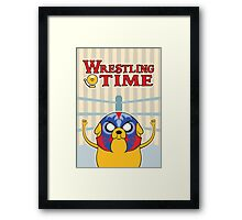 Wrestling Time Framed Print