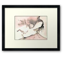 0011 - Brush and Ink - Left Framed Print