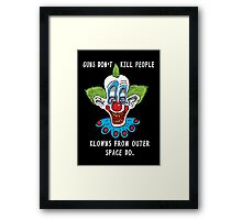 Killer Klowns Kill People Framed Print