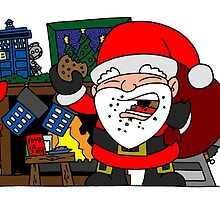 Whovian Santa by joshatomic