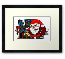 Whovian Santa Framed Print
