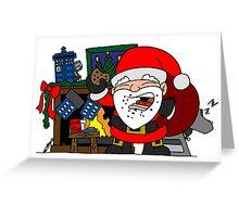 Whovian Santa Greeting Card