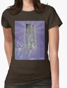 0012 - Brush and Ink - Monolith Womens Fitted T-Shirt