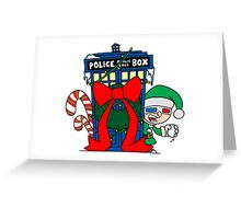 Snowball Fight with the Doctor! Greeting Card
