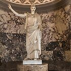 Statue of Athena, Louvre, Paris, France by Elaine Teague