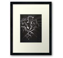 0014 - Brush and Ink - Slate Framed Print