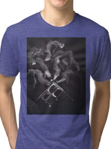 0014 - Brush and Ink - Slate Tri-blend T-Shirt