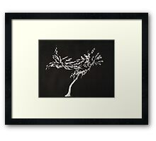 0016 - Brush and Ink - Tree Framed Print