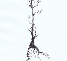 0020 - Brush and Ink - Before Snowfall by wetdryvac