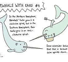 Narwhals With Ears, #4: Spirals by evilflea