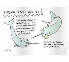 Narwhals With Ears, #4: Spirals Poster