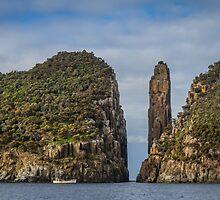 Tasman Island Totem Pole, Tasmania by Russell Charters