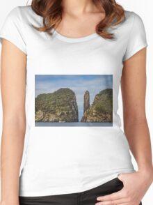 Tasman Island Totem Pole, Tasmania Women's Fitted Scoop T-Shirt